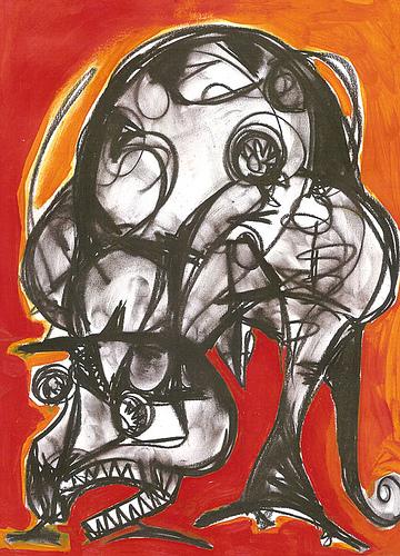 """Dragòn en rojo"" (2004) Serie:""Guardianes"""