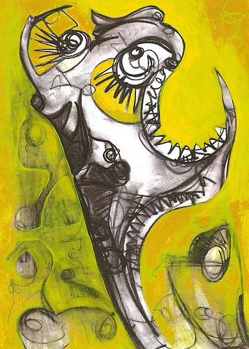 """""""El grito"""" (2004) Serie:""""Guardianes"""""""