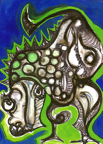 """Dragòn en azul"" (2004) Serie:""Guardianes"""