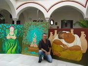 Sacha with his art 2009