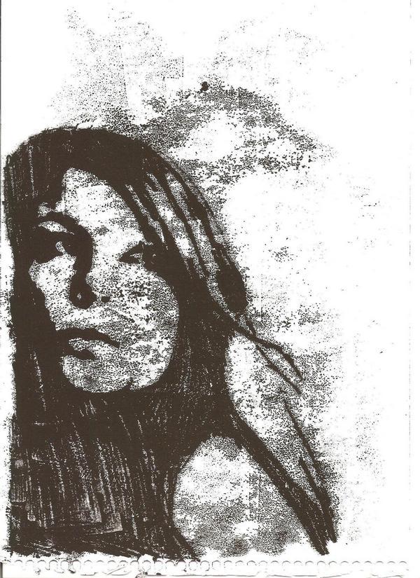 Monoprint of my face