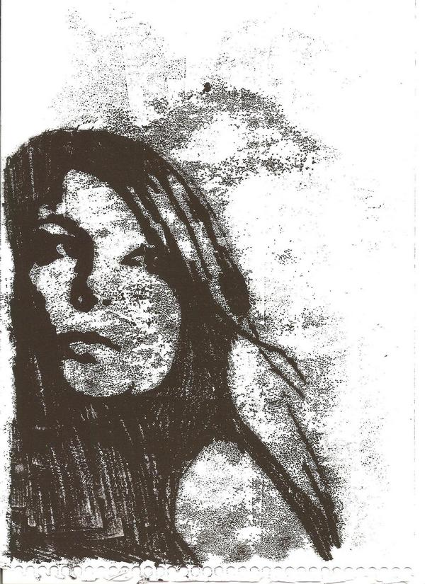 Monoprint of my face