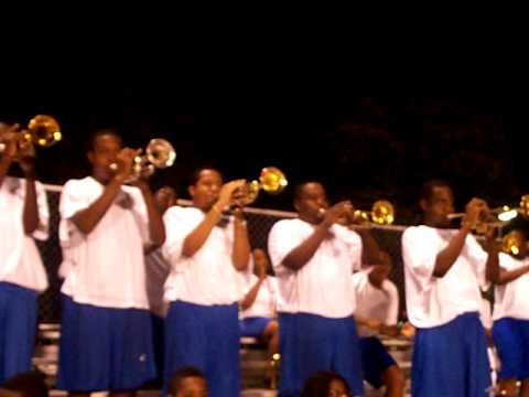 Me and my trumpet section playing 007