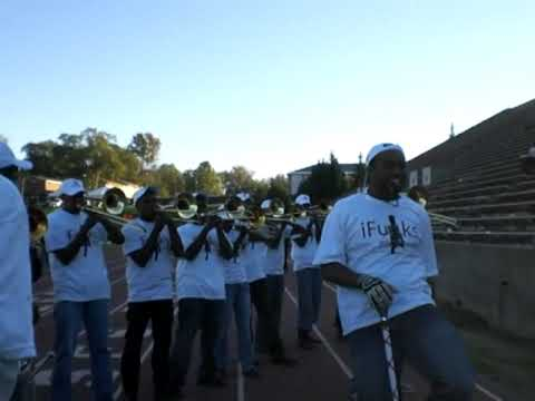 Morehouse House of Funk Band -vs- Miles 2009 Last Game Trombone Fanfare After 5th Qtr.