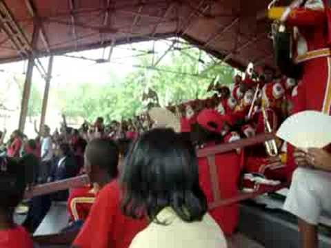 """""""Ball and Parlay""""- Tuskegee's Marching Crimson Piper Band"""