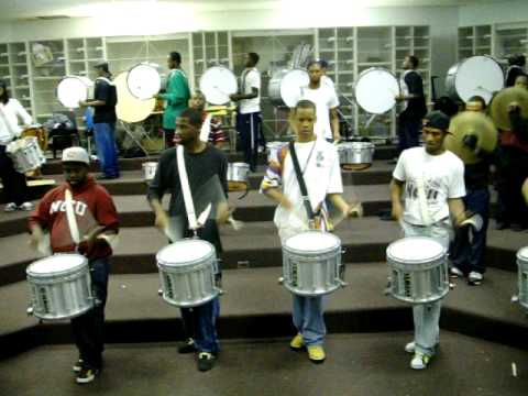 NCCU's Percussion Section D.O.A. Playing 3rd Part