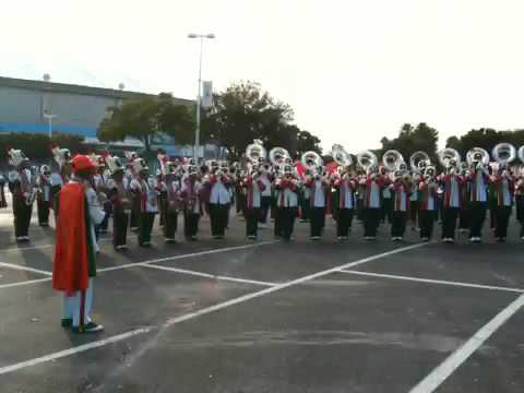 Blanche Ely High Band Warming Up Before A Contest