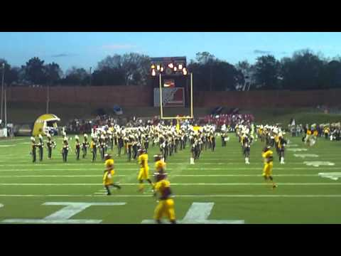 ASU band marching straight through Tuskegee band