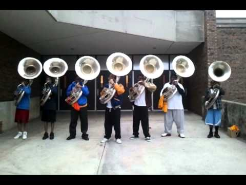 J.O.Johnson tubas (W.H.O.M.P.S.) Playin Troop Call OUT