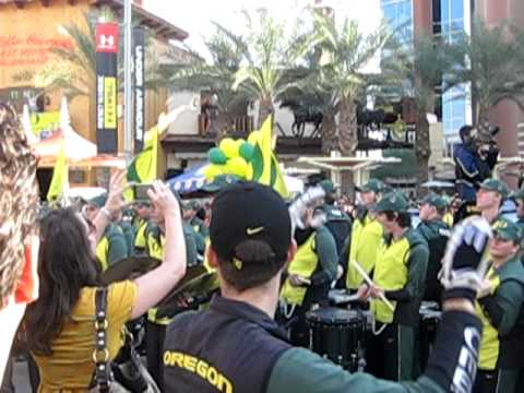 Oregon  Band playing winner