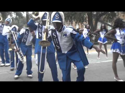 "2011 SAVANNAH HIGH SCHOOL ""Marching Blue Jackets"" @ SSU Homecoming Parade"