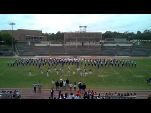 Albany State Marching Rams Drill at  2011 Band Exhibit
