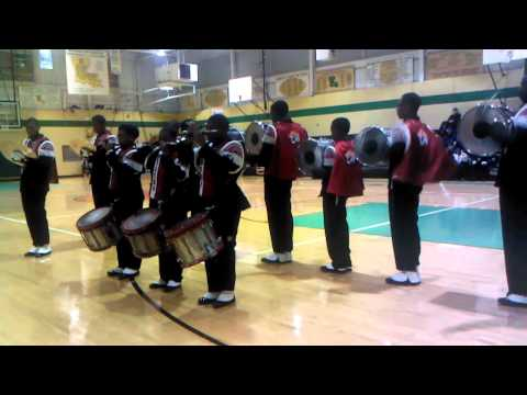 Donaldsonville High Drumline at Washington Marrion Pre BOTB