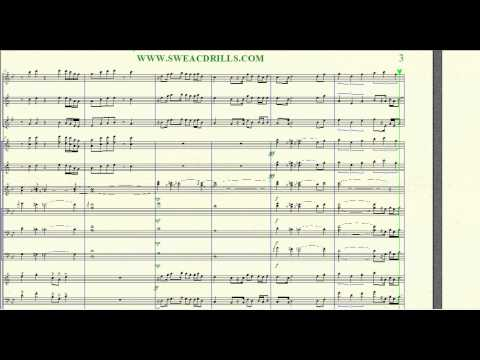 """Back, Back, Forth & Forth"" Aaliyah-Arr. By: Brandon G. Mitchell For Marching/Concert Band"