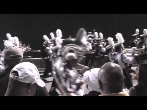 """Virginia State University- """"Trojan Explosion"""" Marching out of stadium"""
