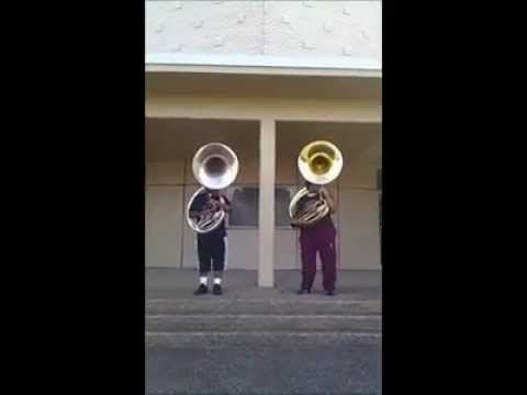 istrouma high school tubas playing around