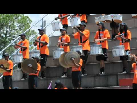Edward Waters College Marching Band warms-up the crowd 2012