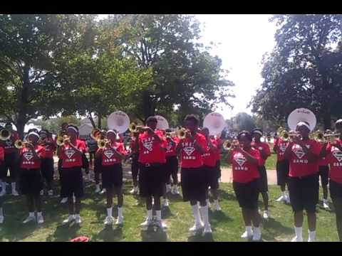 2012 Shaw high school Marching Cardinals-out on a limb