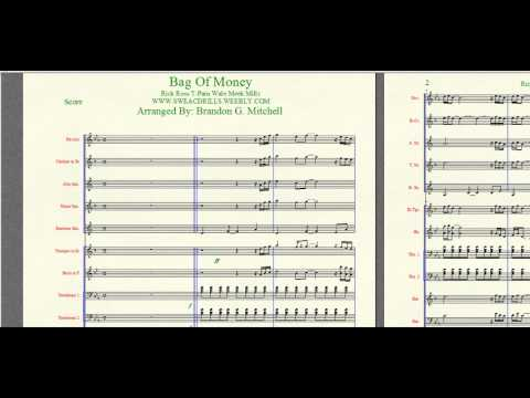"""Bag Of Money"" Rick Ross/T-Pain arranged By: Brandon G. Mitchell for Marching/Concert Band"