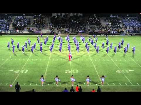 Edward Waters Triple Threat Marching Band in exhibition at the Dillon HS Battle of the Bands