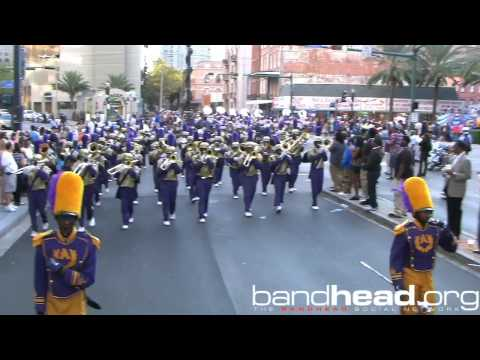 St. Aug Playing During Bayou Classic Parade 2012