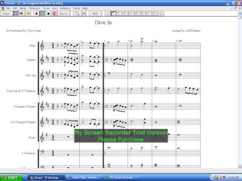 """MARCHING BAND ARRANGEMENT """"Dive In"""" as performed by: Trey Songz"""