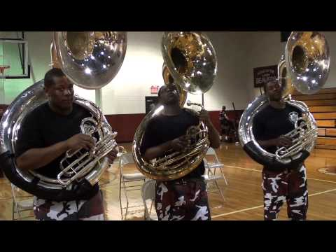 PINE BLUFF HIGH VS LAKE VILLAGE TUBA BATTLE 2013