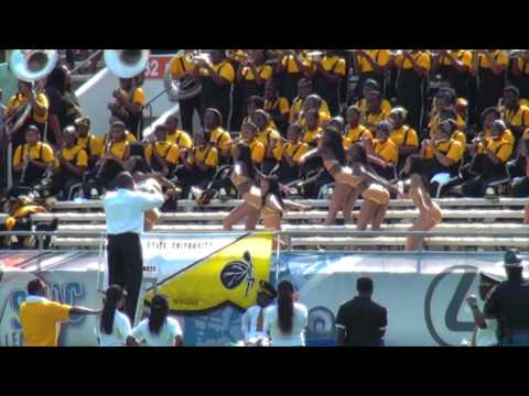 """Alabama State University performing """"The Way"""" in the stands @ 2012 MEAC/SWAC Challenge"""