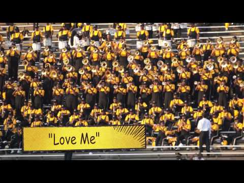 "2013 Mighty Marching Hornets playing ""Bump & Grind"" and ""Love Me"""