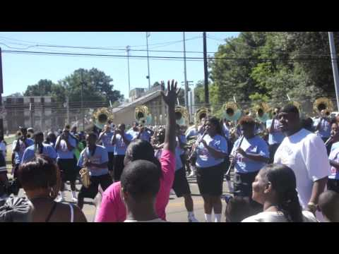 """Talladega College """"Marching Tornadoes"""" playing """"Teddy's Jam @ 2013 SHC Parade"""