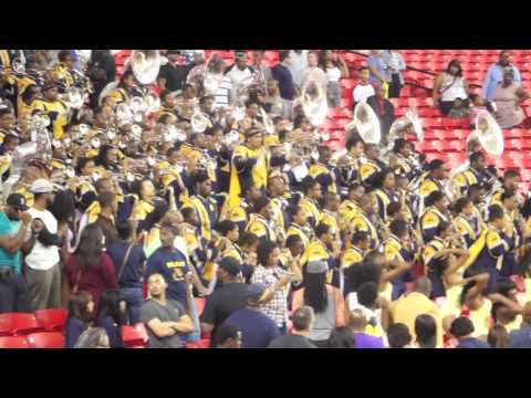 """2013 Atlanta Football Classic- (Blue & Gold Marching Machine) playing """"Never Stop"""""""