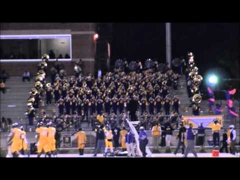 Miles College Marching in & Stands 10-24-13 vs Lane College.