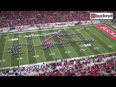"Ohio State Marching Band ""Hollywood Blockbusters"" Themed Halftime Show vs Penn State - 10/26/13"