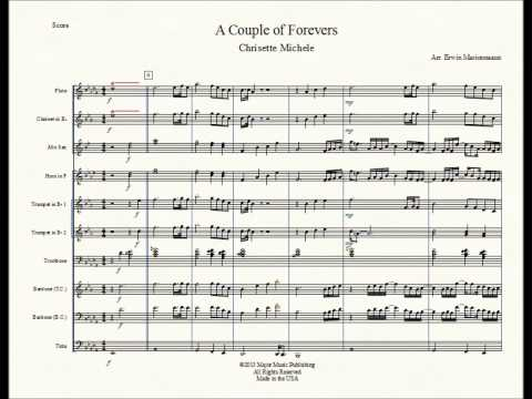 """""""A Couple of Forevers"""" Chrisette Michele Marching Band Sheet Music Arrangement"""