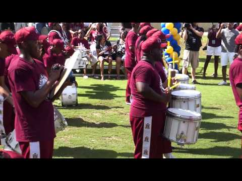 2014 Marching Maroon & White Drumline @ MEAC/SWAC Challenge Pep RALLY