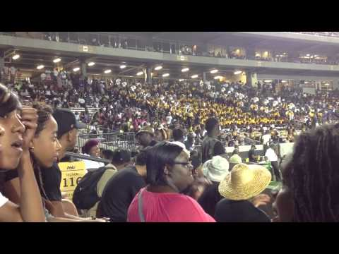 Tennessee state vs Alabama state 2014 drumline clips