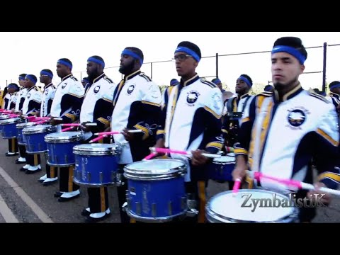 PVU Drum Section - Warming up at JSU (2014)