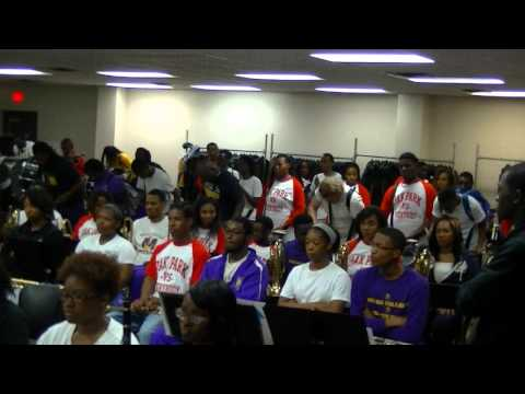 Miles College PMM invites Oak Park HS & Performs together. 10-24-14