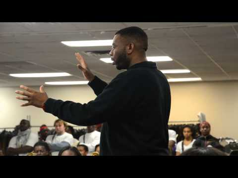 Shaw High School visits Miles College Purple Marching Machine 2014