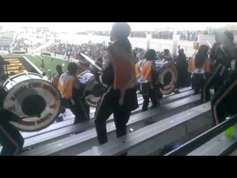 ASU Marching Hornets Percussion Section in Stands