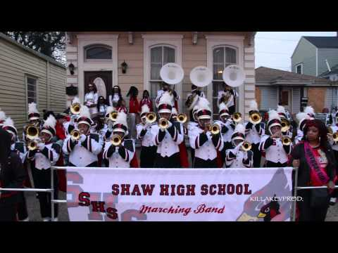 Shaw High School Marching Band - Sanford and Son Theme @ 2015 Bacchus Parade
