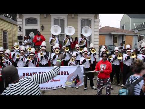 Shaw High School Marching Band - Rich As F*#@ (R.A.F.) @ 2015 Bacchus Parade