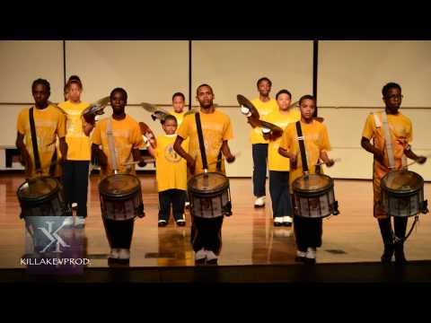 """Levey Middle School Marching Bands' """"Lil Funk"""" - Percussion Feature - 2015"""
