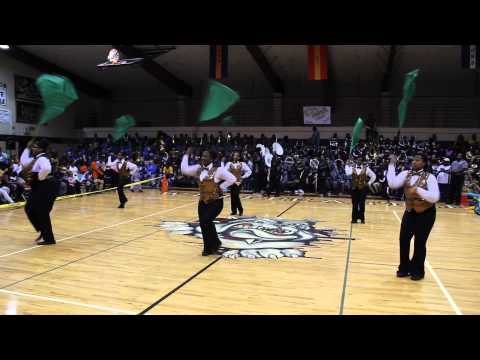 Whitecastle High school Drum and Auxillary Gym Battle Wossman High Band