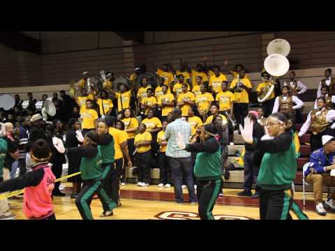 Whitecastle High school Drum and Auxillary Gym Battle Washington Marion Band