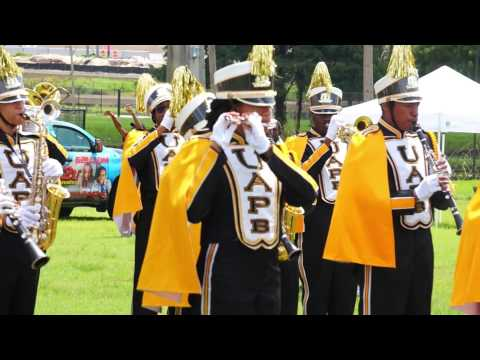 """2015 UAPB """"M4"""" @ MEAC/SWAC Challenge Tailgate Pep Rally performing """"On our Own"""""""
