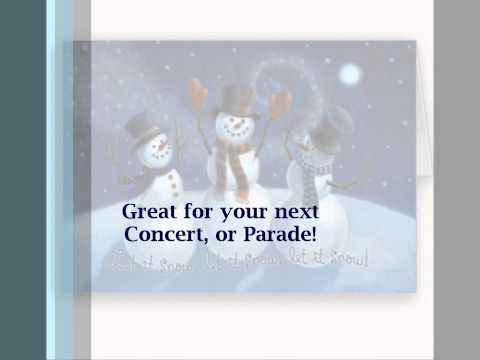 """Let it Snow (as performed by Frank Sinatra)""- for Marching Band by Block Band - Group Size B or C"