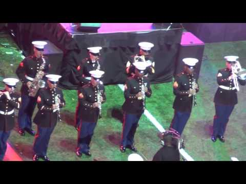 Marine MARCHING Band at 2015 Bayou Classic Battle Of The Bands