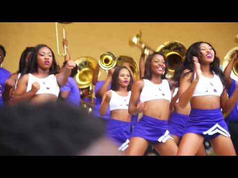 """Alcorn State University """"Sounds of Dyn-O-Mite"""" at 2016 MEAC/SWAC Challenge Pep Rally"""