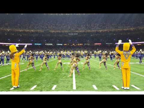 """Alcorn State-SOD""""""""Halftime Show """""""" at the Saints vs Raiders game  2016 at Superdome in New Orleans"""